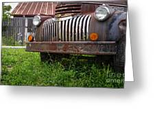 Old Abandoned Pickup Truck Greeting Card