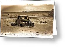 Old Abanoded Truck Fade Greeting Card