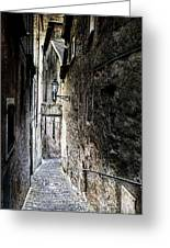 old alley in Italy Greeting Card