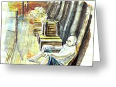 Old And Lonely In Portugal 08 Greeting Card