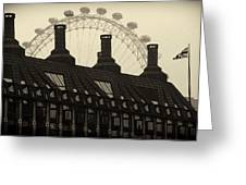 Old And New London Greeting Card