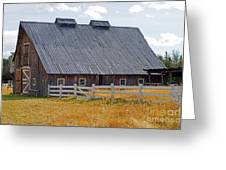 Old Barn And Fence Greeting Card