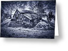 Old Barn Greeting Card by Donald Schwartz