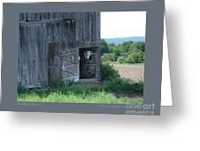 Old Barn Door-i Greeting Card