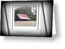Old Barn - Edge Of The Field Greeting Card