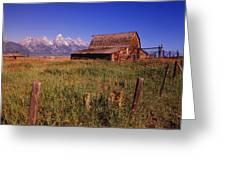 Old Barn, Grand Teton National Park Greeting Card