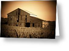 Old Barn In Indiana Greeting Card
