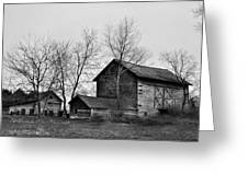 Old Barn In Monochrome Greeting Card