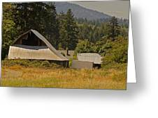 Old Barn On A Hot Summer Day In The Applegate Greeting Card
