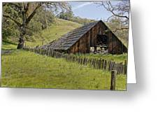 Old Barn On Highway 20 Greeting Card