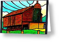 Old Barn On Keezletown Road Greeting Card