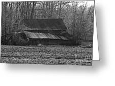 Old Barn Out Back Greeting Card
