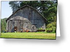 Old Barn South Of Brevard Greeting Card
