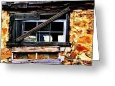 Old Barn Window 2 Greeting Card