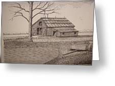 Old Barn2 Greeting Card