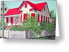 Old Belizean Home Greeting Card