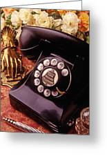 Old Bell Telephone Greeting Card