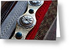 Old Belts Greeting Card