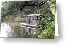Old Boat House Greeting Card