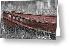 Old Boat Washed Ashore  Greeting Card