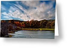 Old Bridge In The Fall Greeting Card