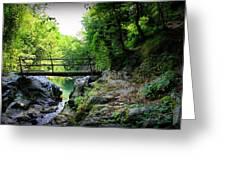 Old Bridge  In The Mountain Greeting Card by Radoslav Nedelchev