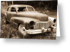Old Caddy-sepia Greeting Card