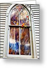 Old Carpenter Gothic Style Church Window In Wv Fall Greeting Card