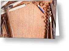 Old Carpentry Tools Greeting Card