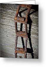 Old Chain And Barn Wood Greeting Card