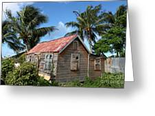 Old Chattel House 2 Greeting Card