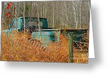 Old Chevy In The Field Greeting Card