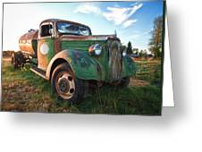 Old Chevy Tanker Truck Greeting Card