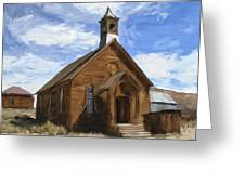 Old Church At Bodie Greeting Card