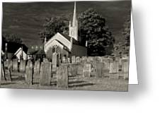 Old Church Yard Greeting Card