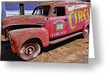 Old Circus Truck Greeting Card