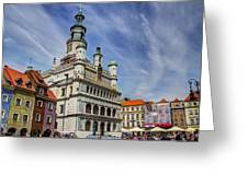 Old City Hall Clock Tower - Posnan Poland Greeting Card