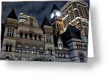 Old City Hall Greeting Card by Luba Citrin