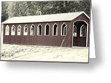 Old Color Covered Bridge Greeting Card
