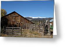 Old Colorado Barn Greeting Card by Donna Parlow