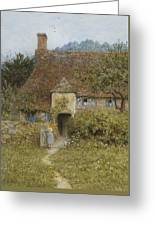 Old Cottage Witley Greeting Card