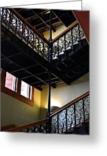 Old Courthouse Stairway Greeting Card