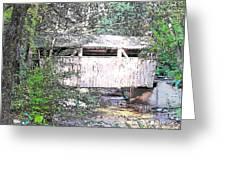 Old Covered Bridge Greeting Card