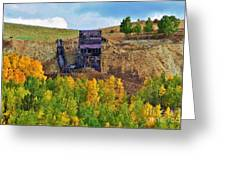 Old Cripple Creek Mine Greeting Card