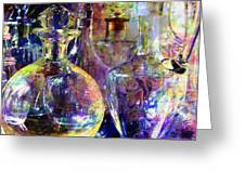 Old Decanters Greeting Card