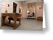 Old Desk In Museum Greeting Card