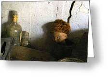 Old Doll In The Attic Greeting Card