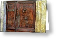 Old Door Study Provence France Greeting Card