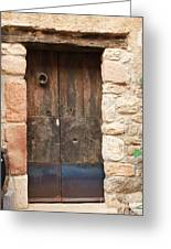 Old Door With Knocker Greeting Card