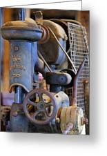 Old Drill Press Greeting Card
